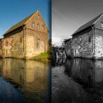 Tüshaus Mühle, Lightroom, schwarzweiß 01