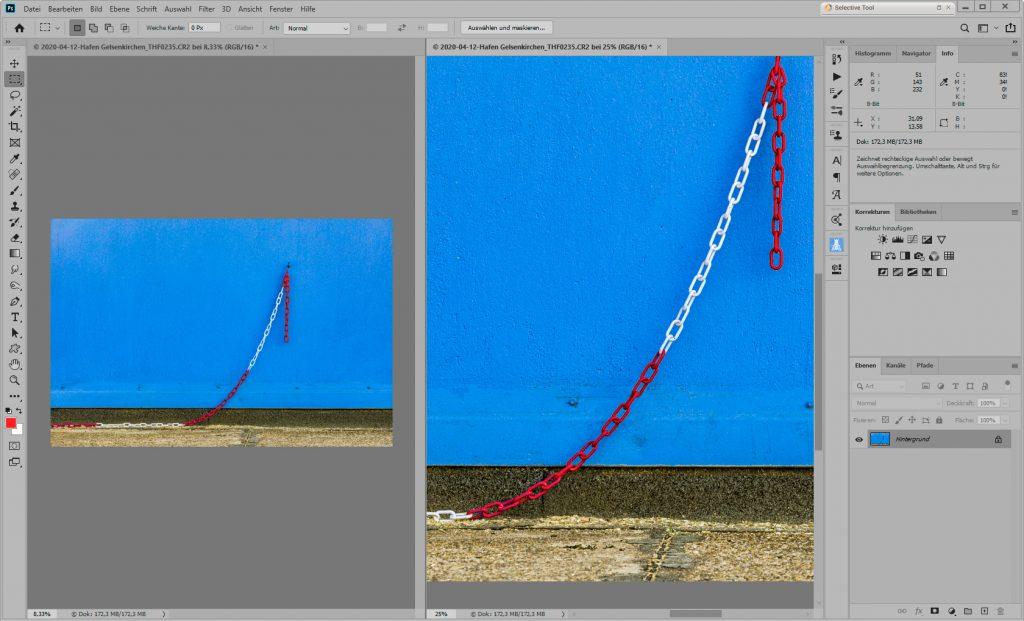 Zwei Ansichten eines Fotos in Photoshop_01