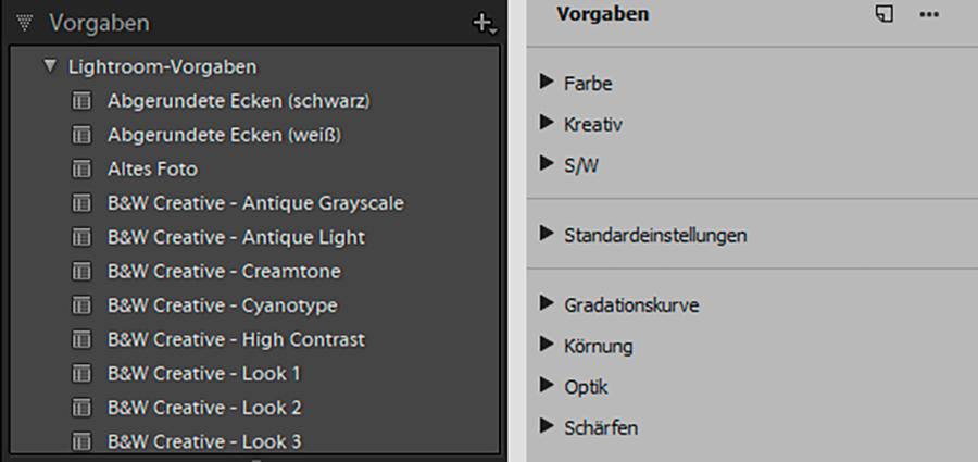 Vorgaben von Lightroom nach Adobe Camera Raw kopieren 01