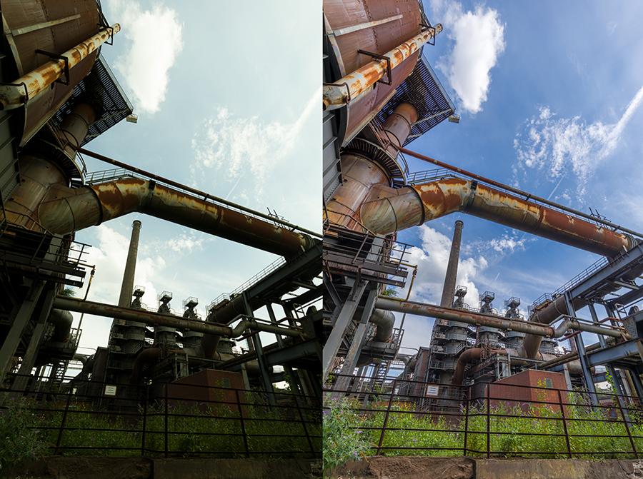 Entwicklungswege Lightroom Landschaftspark Duisburg Nord 01