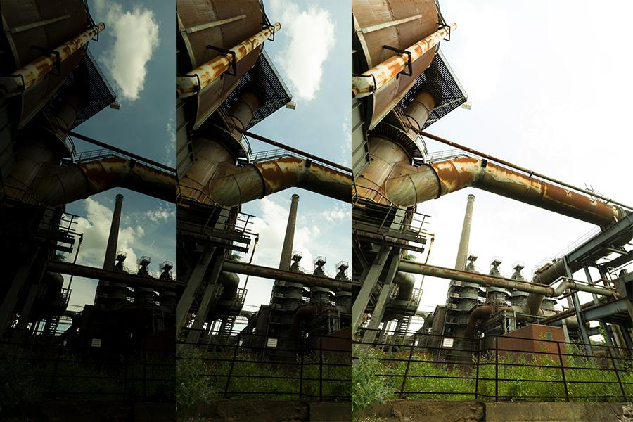 Entwicklungswege Lightroom Landschaftspark Duisburg Nord 02