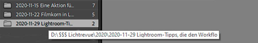 Lightroom, schneller Workflow 05