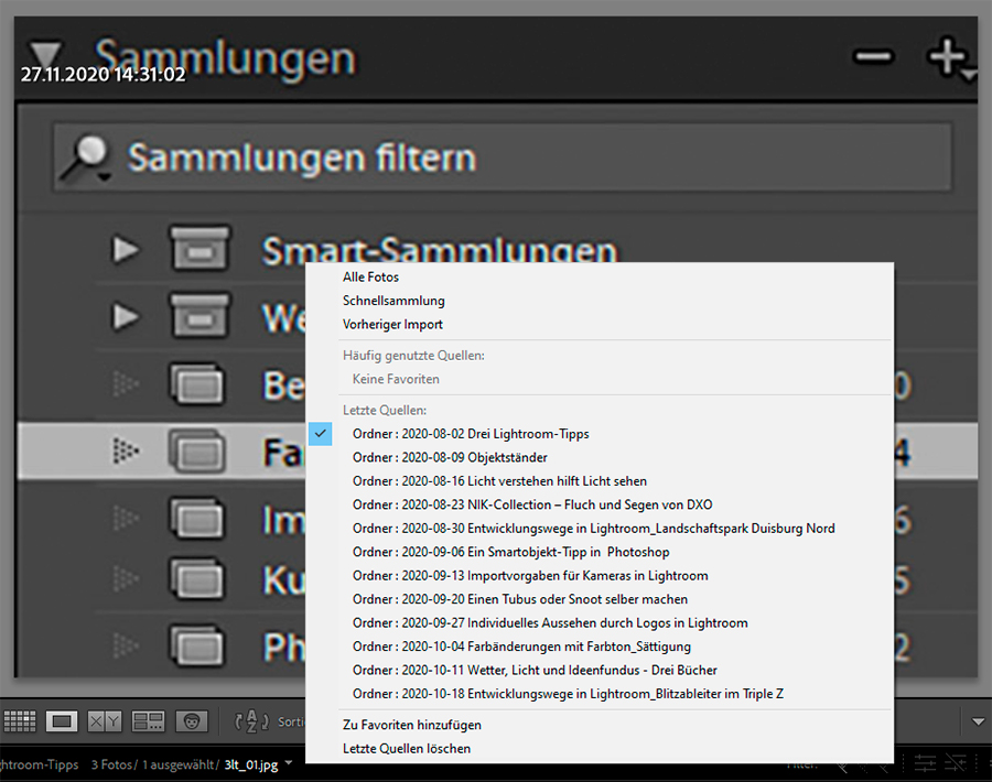Lightroom, Tipps, Navigation 03