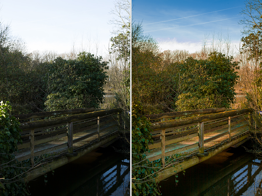 Entwicklungswege in Lightroom, alte Brücke, Tüshaus Mühle 01