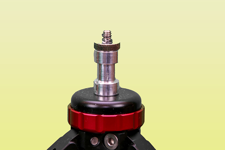 Einbeinstativ, Standspinne, Modifikation, 04
